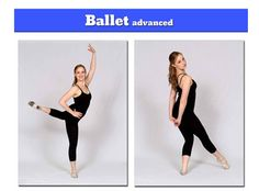 Ballet dance poses for pictures