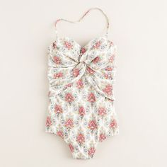 I haven't worn a one-piece in so long, but this one may change that J. Crew Paradis Paisley Twist-Front Tank