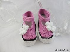 Summer Baby Flower Shoes,Pink Crochet Baby Booties, Crochet Baby Shoes, Crochet Baby Booties, Crochet Baby Flip Flops, Girls Mary Janes, by BUBUCrochet on Etsy