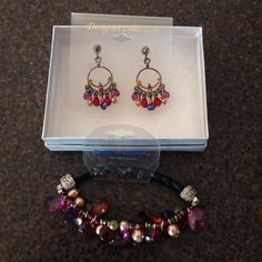 Earring and Bracelet Beaded Jewelry Set. Brand new! Designer Collection Jewelry Bracelets