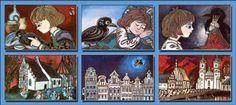 Trębacz ratuszowy i król kruków- ilustracje Danuta Imielska Gebethner