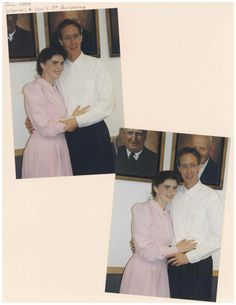 """State's Exhibit 112I in the trial State of Texas vs Warren Jeffs: 5th """"Anniversary"""" photos of Warren Jeffs with his second cousin/""""wife"""" Lori Steed (they have the same great-grandfather Walter William Steed). By her """"fifth anniversary"""", Lori was only 21, and had given birth to daughter Elizabeth."""