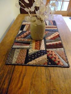 Scrappy String Quilt Runner by TreasuredPrimitives on Etsy                                                                                                                                                                                 More