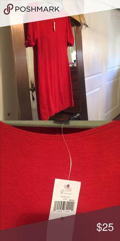 Red dress Red shift dress Banana Republic Dresses Midi