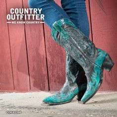 Black and turquoise boots <3