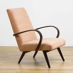 Model 53 armchair by Jaroslav Smídek for Ton, 1950s