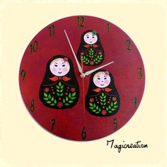 Horloge sur vinyl 33 trs défi d avril 2013 : la Russie Avril, 2013, Decoration, Kids Rugs, French, Etsy, Vintage, Home Decor, Russia