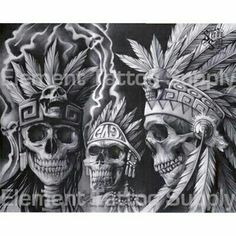 Chicano art Indian Skull Tattoos, Mexican Art Tattoos, Aztec Headdress, Aztec Drawing, Chicano Art Tattoos, Aztec Tattoo Designs, Cholo Art, Aztec Culture, Lowrider Art