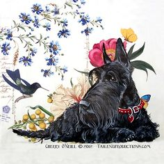Scottish Terrier Hummingbird