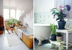 Цветы в интерьере. 55 примеров и 10 практичных советов - Сундук идей. Дома и интерьеры. Clawfoot Bathtub, Bathroom, Washroom, Full Bath, Bath, Bathrooms