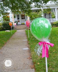 Candy Suckers out of Balloons for a Candy Birthday Party from Margot Madison