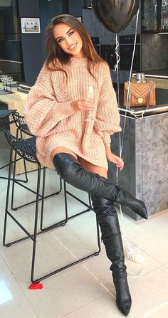 Thigh High Boots Heels, Stiletto Boots, Sexy Boots, Black Boots, Long Boots, Leather Fashion, Fashion Boots, Winter Boots Outfits, High Leather Boots