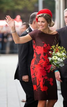 Queen Maxima of The Netherlands attends the opening of the new Markthal on 01.10. 2014 in Rotterdam, Netherlands
