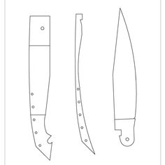 Knife Template, Knife Patterns, Cool Knives, Folding Knives, Plans, Weapons, Templates, Design, Homemade Weapons