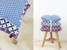 Nala Pillow Case - Willow Wishes Cushion Blue & White