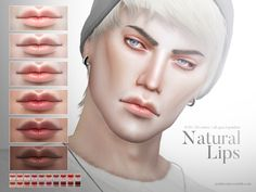 The Sims Resource: Natural Lips N73 by Pralinesims • Sims 4 Downloads