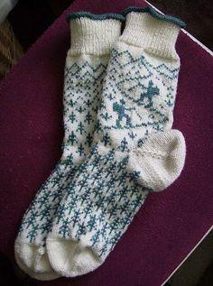Knitting Patterns Socks Ravelry: Wanderlust pattern by Friederike Erbslein Crochet Socks, Knitting Socks, Baby Knitting, Knit Socks, Fair Isle Knitting Patterns, Knitting Charts, Tejido Fair Isle, Ravelry, Knit Stockings