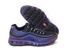 Nike Air Max 24-7 Club Purple Black White Sneakers Womens Sz 13