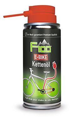 F100 2830 E-Bike Kettenöl, 100 ml Dr. Wack Spezielles E-Bike Kettenöl Bei einem elektrischen Fahrradantrieb werden wesentlich höhere Kräfte auf die Kette übertragen als bei einem Fahrrad ohne elektrische Unterstützung. Dazu kommen eine hohe Kilometerleistung und Umwelteinflüsse wie Regen und Schmutz, die den Leichtlauf der Kette beeinträchtigen und zu erhöhtem Verschleiß führen.