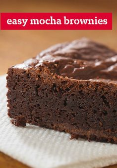 Easy Mocha Brownies – You'll need just two ingredients to make this easy dessert recipe. The hardest part? Waiting for them to completely cool before cutting to serve. #TwistThatDish