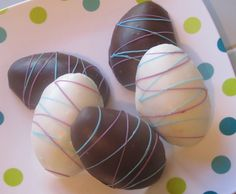 Chocolate Easter Eggs with Peanut Butter Filling!