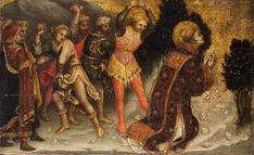 Stoning Of St. Stephen by  Gentile da Fabriano, circa 1423 - 1427,tempera on canvas,16.5 × 27 cm (6.5 × 10.6 in), Kunsthistorisches Museum, Vienna