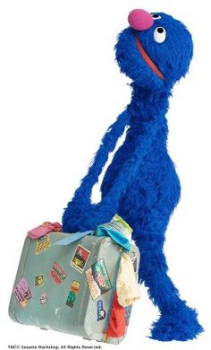 """Grover = loveable, furry, old pal """"Don't push the red button! Grover Sesame Street, Sesame Street Muppets, Jim Henson, Daisy Duck, Fraggle Rock, The Muppet Show, Miss Piggy, Kermit The Frog, Puppets"""