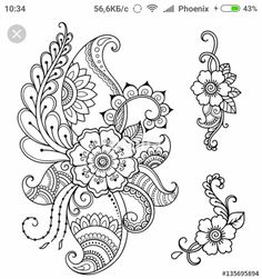 Draw Flower Patterns Set of Mehndi flower pattern for Henna drawing and tattoo. Decoration in ethnic oriental, Indian style. Mandala Tattoo Design, Mandala Arm Tattoo, Flor Henna, Henna Art, Mehndi Flower, Flower Mandala, Designs Henna, Tattoo Designs, Zentangle Patterns