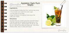 Fall-Inspired Signature Wedding Cocktail: Dark Rum Mojito - Sandals Wedding Blog