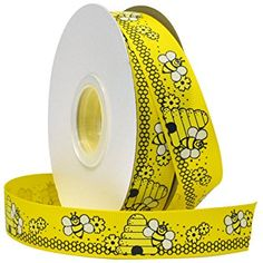 Morex Ribbon Bees Grosgrain Fabric Ribbon with 7/8-Inch by 25-Yard Spool, Yellow Review