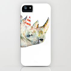 Rhino's Party iPhone Case