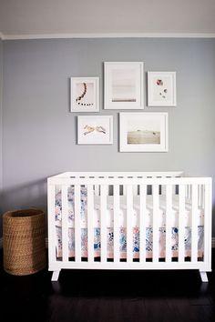 grey + white nursery.