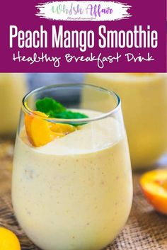 Step by Step Healthy Peach Mango Smoothie Recipe. Healthy Vegan Peach Mango Smoothie Recipe is a delicious and healthy choice to have for breakfast. Make it in regular milk if Almond milk is not… Smoothie Bowl, Mango Smoothie Healthy, Peach Mango Smoothie, Peach Smoothie Recipes, Mango Recipes, Healthy Breakfast Smoothies, Easy Smoothies, Fruit Smoothies, Healthy Drinks