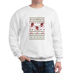 Cycling Ugly Christmas Sweater Sweatshirt Crew Neck Sweatshirt 699ebcedb