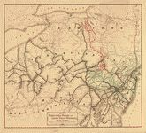Map of the Pennsylvania, Reading, and Lehigh Valley Railroads, and their connections. Library of Congress