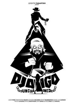 Django Unchained | #movieposter #design #graphic