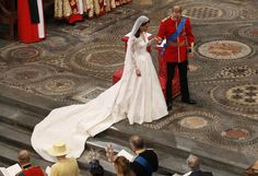 Prince William and Catherine Middleton during their marriage ceremony. April 29, 2011.