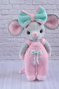 Free Cute Amigurumi Patterns- 25 Amazing Crochet Ideas For Beginners To Make Easy New 2019 - . Free Cute Amigurumi Patterns- 25 Amazing Crochet Ideas For Beginners To Make Easy New 2019 - eeasyknitting. com - Kostenlose süße Amigurumi-Muster . Crochet Pattern Free, Crochet Animal Patterns, Crochet Patterns Amigurumi, Stuffed Animal Patterns, Amigurumi Doll, Crochet Stitches, Crochet Amigurumi Free Patterns, Stuffed Animals, Crochet Mouse