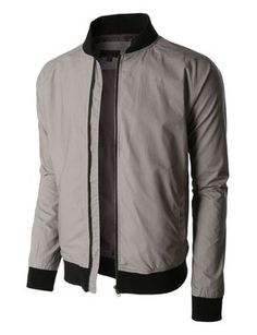 8fa5a0d760dc6 LE3NO Mens Lightweight Windbreaker Fully Lined Zip Up Bomber Jacket Стильные  Мужчины, Куртки Бомбер,