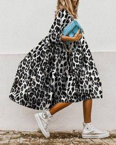 Plus Dresses, Cheap Dresses, Casual Dresses, Midi Dress With Sleeves, Half Sleeves, Sleeve Dresses, Estilo Fashion, Ideias Fashion, Look Street Style