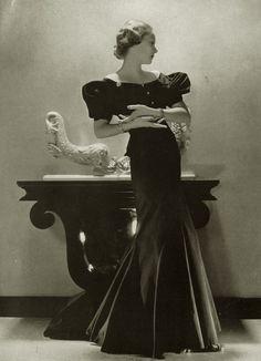 Princess Natalia (Natasha) Paley in a Lucien Lelong gown, 1930s