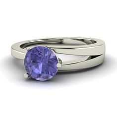Natural Tanzanite Ring Tanzanite Engagement Ring by Diamondere, $425.00