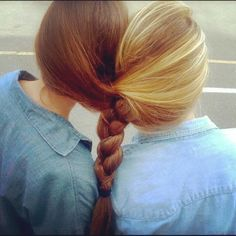 I totes remember sitting in CATS and braiding @Alyssa Cunningham and @Lauren Neal's hair together, it looked like this. :)