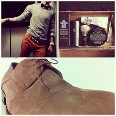Carlo Pazolini featuring the modern man #elegance #style #men #man #chinos #laceup #brown #orange #fashion #outfit #grooming #shaving #kit #gift #giftidea #luxurious #modern #carlopazolini #footwear #milan #italy #nyc #soho