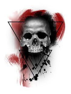 Trash polka Skull by BoetsD – … – Graffiti World Skull Tattoo Design, Skull Design, Skull Tattoos, Sleeve Tattoos, Tattoo Designs, Trash Polka Skull, Arte Trash Polka, Trash Polka Tattoos, Tattoo Trash