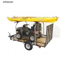 Overhead Cargo Trailer Atv Storage Kayak Canoe Raft Utility Rack Sup Utv Tow New