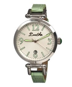 Take a look at the Mint Lilah Leather-Strap Watch on #zulily today!