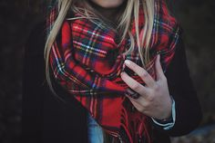 Flannel scarf?! Yes, please!