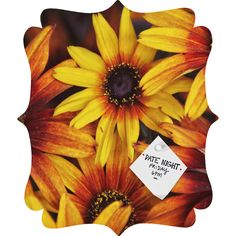 Shannon Clark Sunshine Petals Quatrefoil Magnet Board | DENY Designs Home Accessories