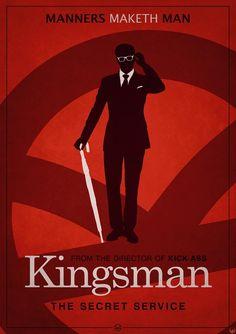 Kingsman: The Secret Service (2014) ~ Alternative Movie Poster by EaglesG #amusementphile